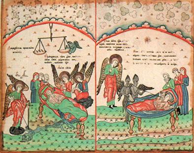 Смерть праведника и грешника.   Конец 18 — начало 19  в.
